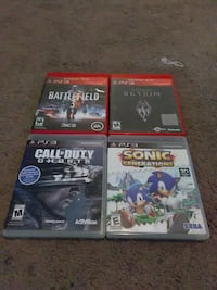 four assorted PS3 games Goshen, 46528