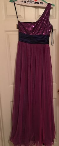 women's purple and red tulle sequin one shoulder empire waist prom gown Gaithersburg, 20886