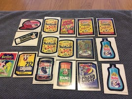 Vintage Wacky pack stickers 1970's