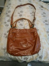 brown leather 2-way bag Calgary, T2T 1H8