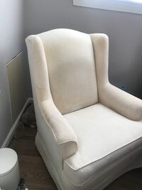 white fabric padded sofa chair Fairfax, 22031