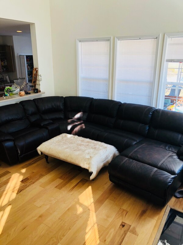Awesome Dark Brown Leather Sectional Sofa With Ottoman Onthecornerstone Fun Painted Chair Ideas Images Onthecornerstoneorg