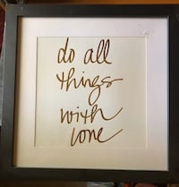 Do All Things with Love wall decor Burke, 22015