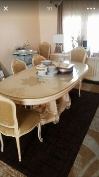 Italian dining table and chairs Italian Baroque Rococo style  Los Angeles, 90034