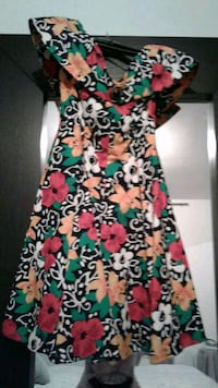 red, green, and white floral sleeveless dress Toronto, M1R 1H8