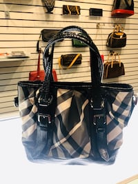 Burberry black and white handbag authentic