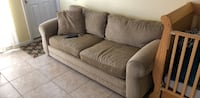 brown fabric 3-seat sofa Ormond Beach, 32176