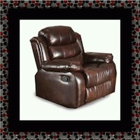 Burgundy recliner chair 27 km