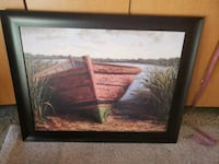 Framed painting of boat - large Placentia, 92870