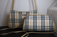 Black and white plaid leather tote bag St Catharines, L2R