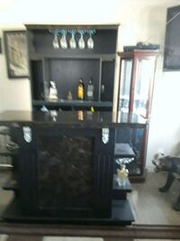black wooden framed glass cabinet Chino, 91710