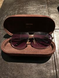 Tom Ford Cole aviator sunglasses with case