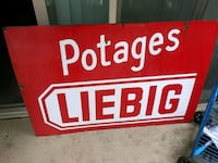 red and white Garage Sale signage 37 km