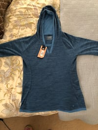 Outdoor research women's blue pullover hoodie. Size Medium.
