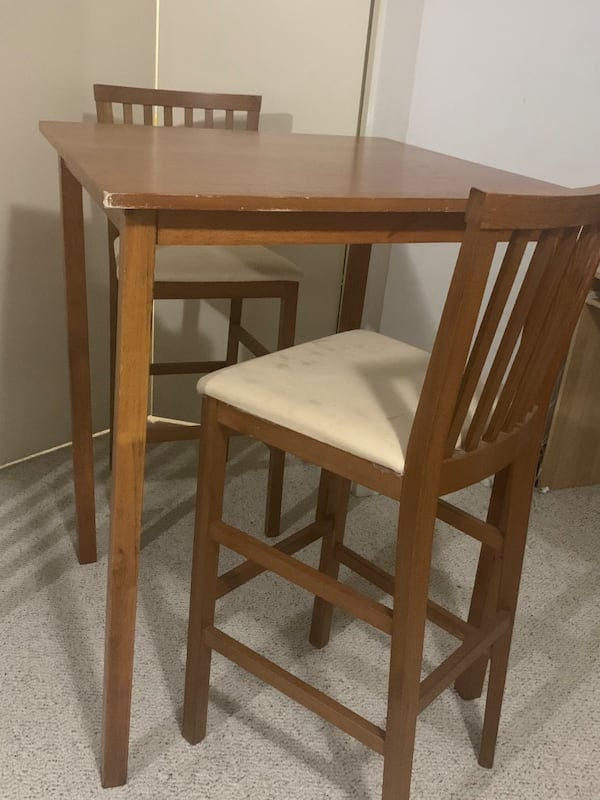 Kitchen high table and two chairs 3b7dfd7b-97a9-446c-acf4-1d13bed1aa3a