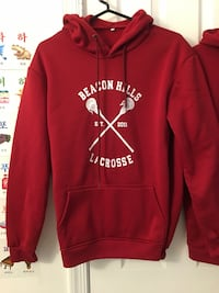 red and white pullover hoodie Fairfax, 22033