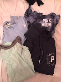 PINK lot of hoodies and T-shirt 5! All xs-sm Coquitlam, V3C 4H9