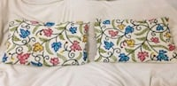 white, blue, and green floral throw pillows Calgary, T2E 6T9
