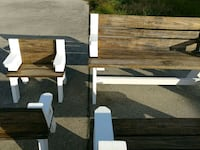 Child and adult convertible tables from benches.   New Iberia, 70560