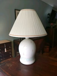 white ceramic table lamp with white lampshade Woodbridge, 22192