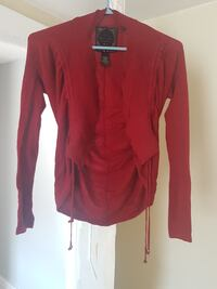 GUESS size XS red cardigan