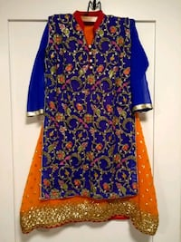Girls Pakistani indian dress lengha with blue top Toronto, M4K 1H6