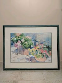 Flower Painting (with frame)