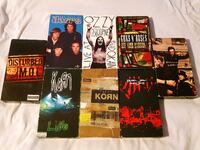Lot of 8 VHS Collection Guns N Roses   Ozzy   Korn   Pearl Jam  Disturbed   The Doors