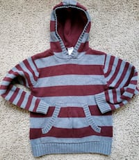 Gymboree Boys Burgundy Gray Sweater Size,6 Greater Landover, 20785