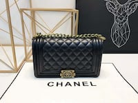 quilted black Chanel leather crossbody bag Sunnyvale, 94085