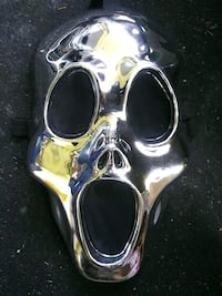 Chrome plastic ghoul mask