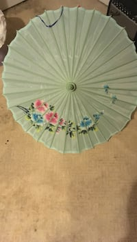 Light green floral Japanese themed umbrella Brookhaven, 11776