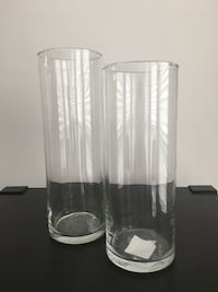2pc. clear glass vases Alexandria, 22314