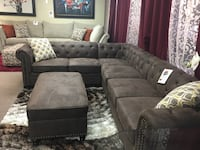Modular Breathable Leather Sectional.