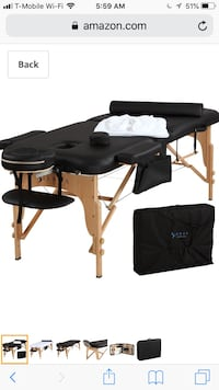 Black massage table Nokesville, 20181