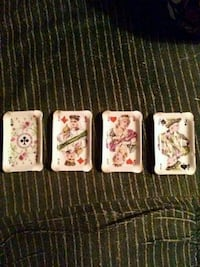 Vintage playing card ashtrays