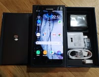 black Sony Xperia smartphone with box