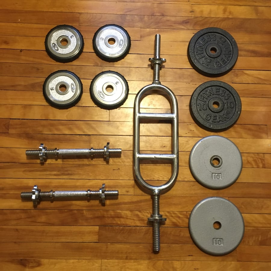 Weight Set Dumbells, Multi-Grip Barbell, 5lbs, 10lbs Weights