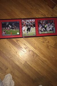 Framed official NFL photo collage of retired patriots stars