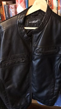 black leather jacket Aurora, 80014