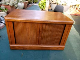 Bench with storage or for TV stand- oak wooden