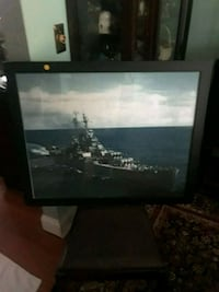 Two large frame Navy posters