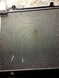 silver and black car radiator