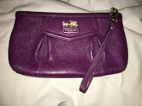 Purple Leather Coach Clutch Vaughan, L6A 1V9