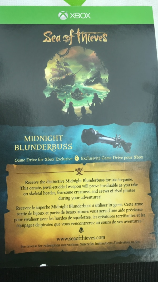 33fc832fa5 Used Midnight blunderbuss code exclusive sea of thieves for sale in ...