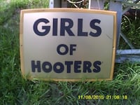 GIRLS OF HOOTeR For Sale $79.99 OBO=Or Best Offer   THE SIGN IS USED, BUT GOOD,   (D11) We Can Meet For You To Check It Out.   GOD BLESS YOU.  @ https://www.ioffer.com/i/ [PHONE NUMBER HIDDEN]   Like And  [EMAIL HIDDEN] ....  Follow  [EMAIL HIDDEN]  FAYETTEVILLE