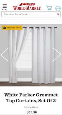 Two 96 in Curtain panels grommet top Thousand Oaks, 91361