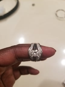 Genuine Diamond Engagement Ring and Wedding Band