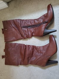 Leather, Brown boots Hamilton