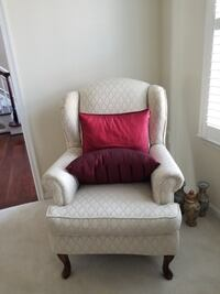 white and pink floral sofa chair Washington